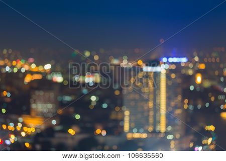 Abstract blurred bokeh city light night view