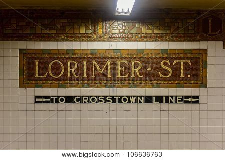 Lorimer Street Subway Station - New York City