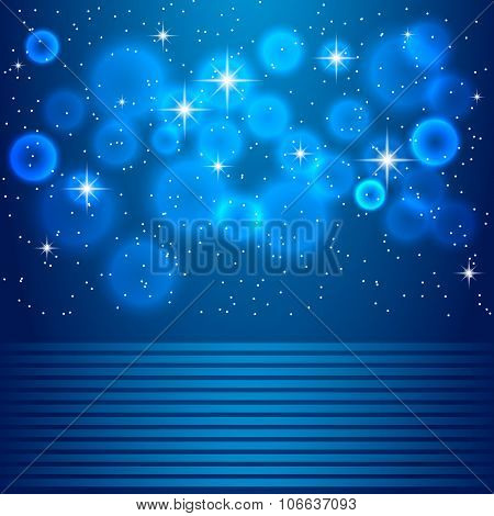 Vector space blue background illustration