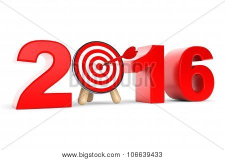 Darts Target As 2016 Year Sign