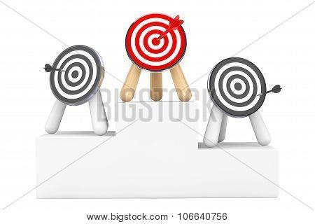 Darts Over Winner Pedestal