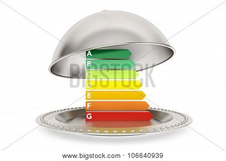 Energy Efficiency Rating In Silver Restaurant Cloche