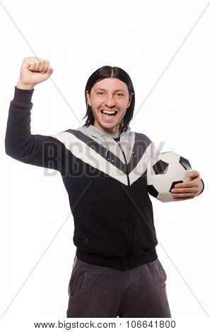 Man in sports concept isolated on white