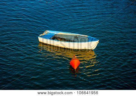 White small boats.