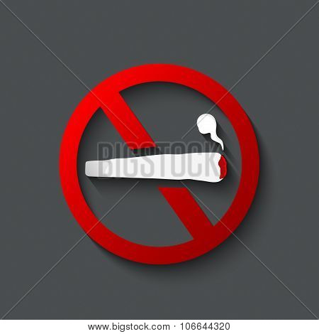 No Smoking Joint Sign.prohibited Sign Of No Smoking Joint