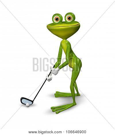 Frog Golfer