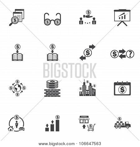 Business Money and Finance Icons