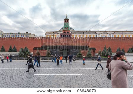 Lenin Mausoleum on Red Square