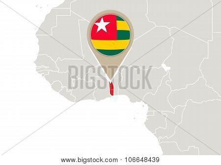 Togo On World Map