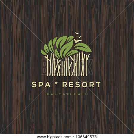 Logotype for spa resort or beauty business