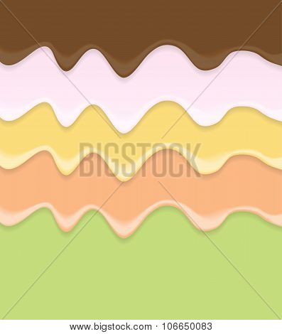 Cream Cake Icing Background Vector Illustration