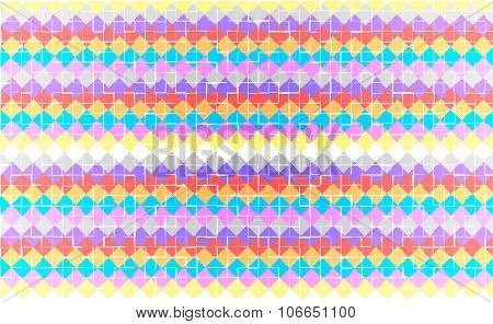 Abstract square colored pixels with tile effect background