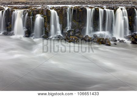 Part of the Selfoss in Iceland