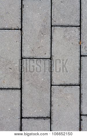 detail of interlocking concrete pavement - gray color