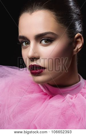 Beautiful girl with bright makeup