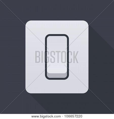 Electric light switch icon, modern minimal flat design style, vector illustration