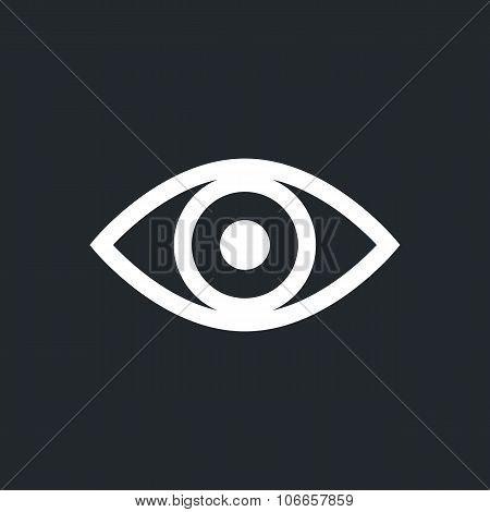 Eye outline icon, modern minimal flat design style, vector illustration