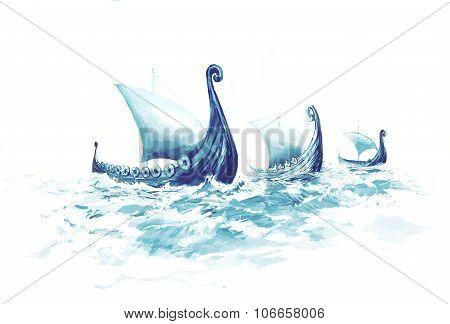 Viking's Ships Drakkars