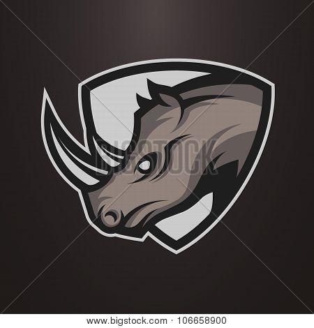 Rhino symbol, emblem or logo.