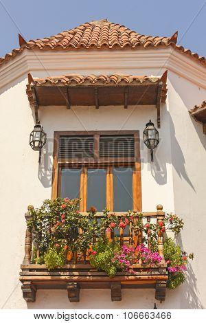 Balcony. Cartagena De Indias. Colombia.