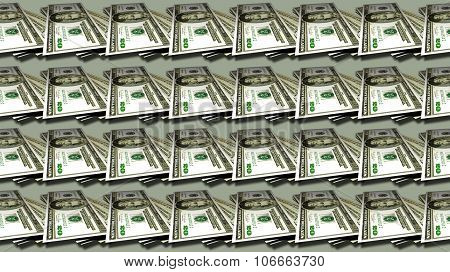 Money patterns seamless, money background from dollars