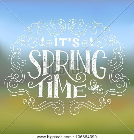 It's Spring Time Typographic Design