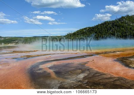 Lake in Yellowstone National Park USA WY