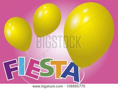 Yellow Balloons Fiesta