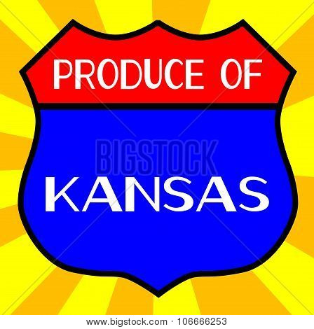 Produce Of Kansas Shield