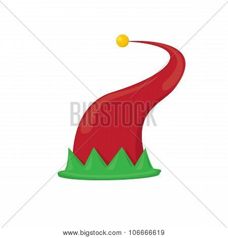 christmas elf hat. vector illustration