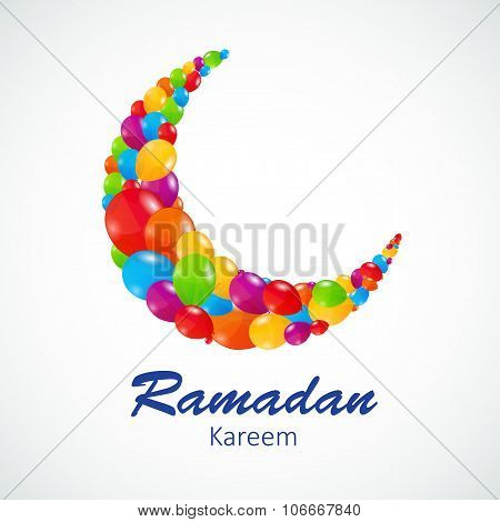 Background for Muslim Community Festival Vector Illustration