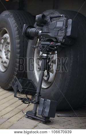Tv Camcorder On Steadicam