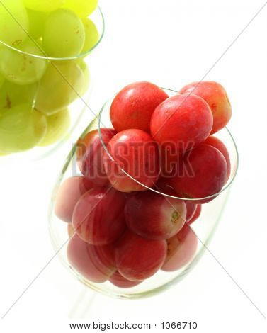 High Key Grapes In Glass
