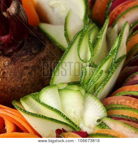 salad  cucumber Beetroot Carrot sliced