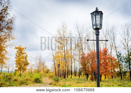Old-fashioned lamp post
