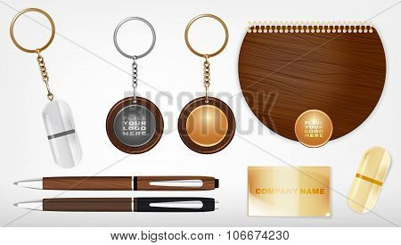 Souvenirs template illustration