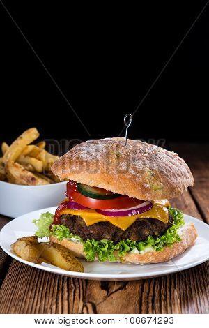 Homemade Ciabatta Beef Burger