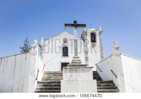 white church in Vale de Figueira village, Santarém, Portugal