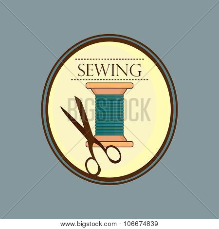 Hand drawn sewing lable