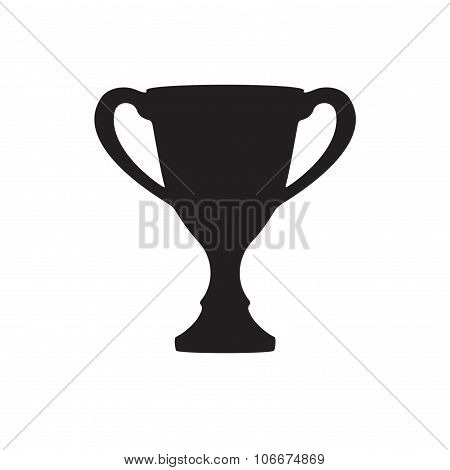 Trophy cup icon or sign isolated on white background. Vector illustration.