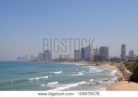 beach of Tel-Aviv,Israel