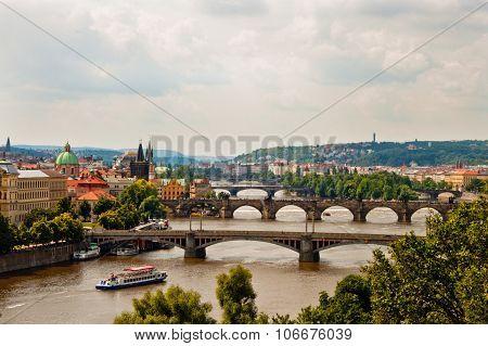 View Of Bridges In Prague