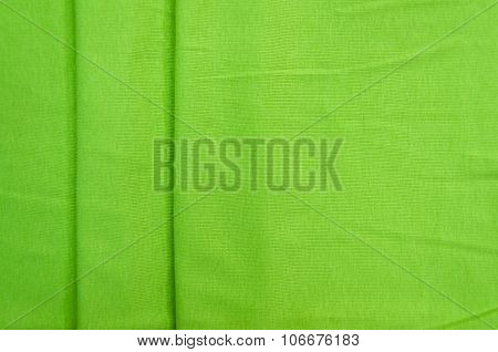 green nylon towel background