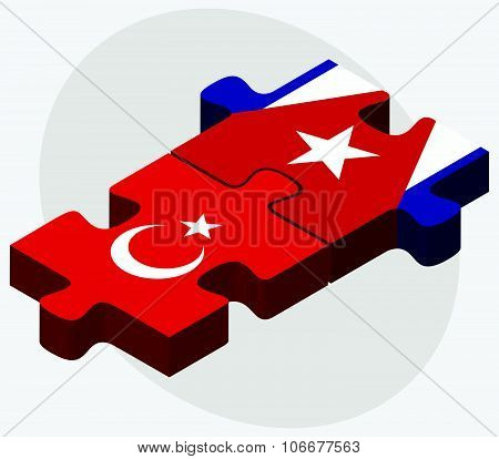Turkey And Cuba Flags