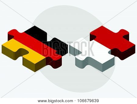 Germany And Monaco Flags