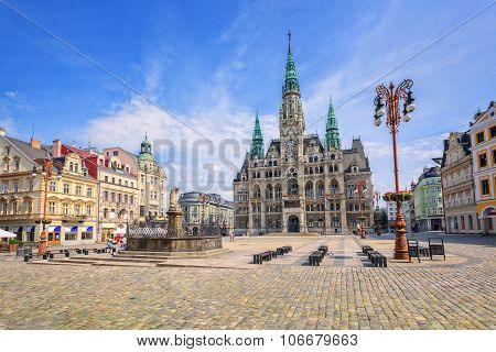 The Town Hall And The Central Square In Liberec, Czech Republic