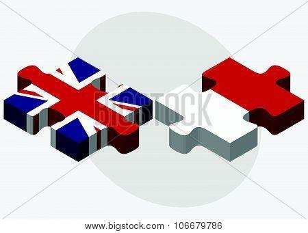 United Kingdom And Monaco Flags