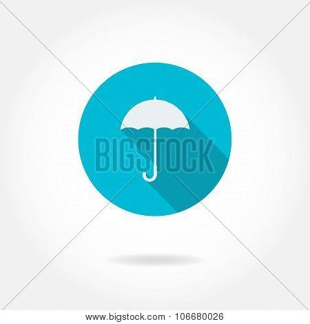 Umbrella icon or sign. Vector illustration.