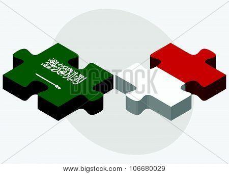 Saudi Arabia And Monaco Flags