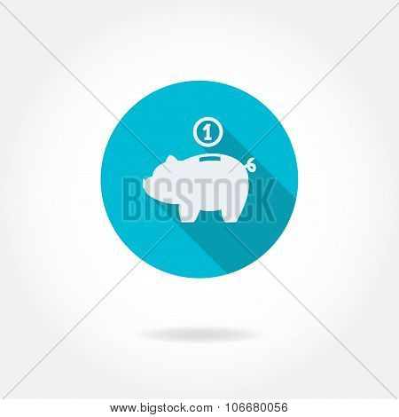 Piggy bank icon. Saving money symbol. Business and finance vector illustration.
